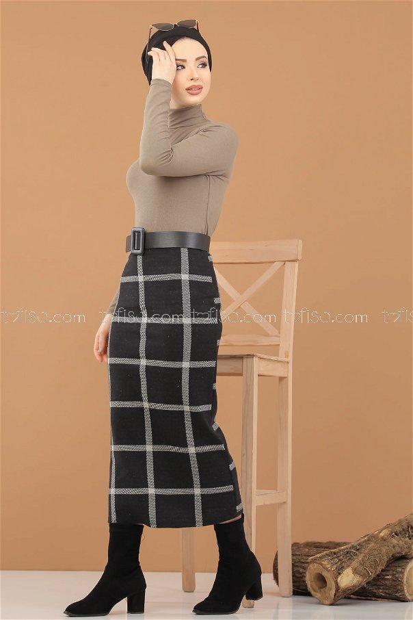 Blouse Skirt Combine mink - 8307