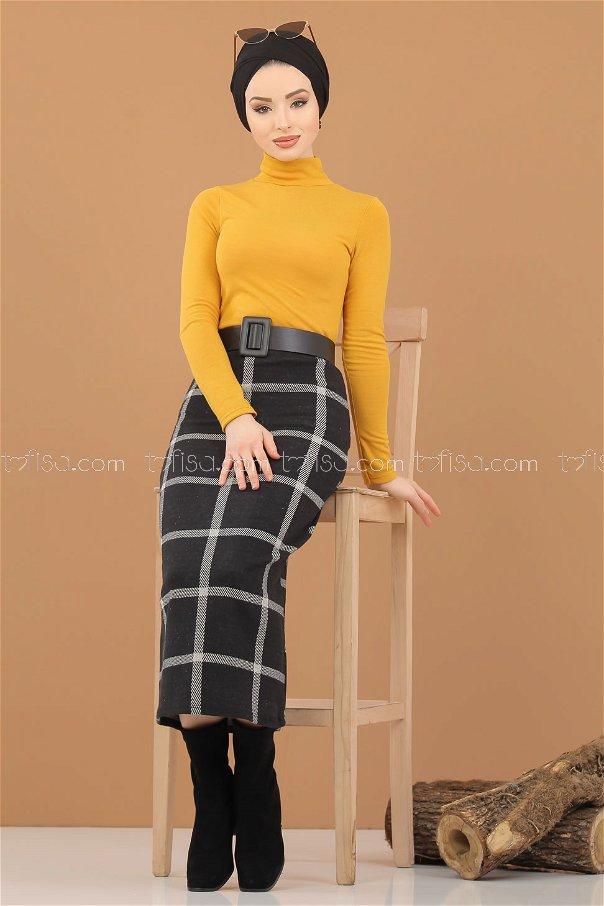 Blouse Skirt Combine Mustard - 8307