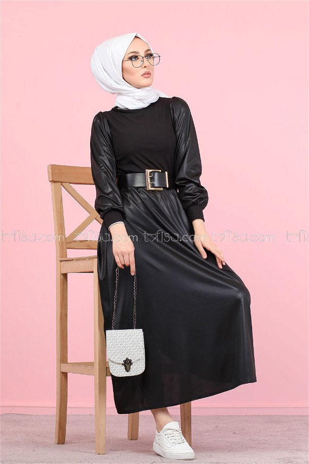 Bluz Etek Kombin Siyah - 1348