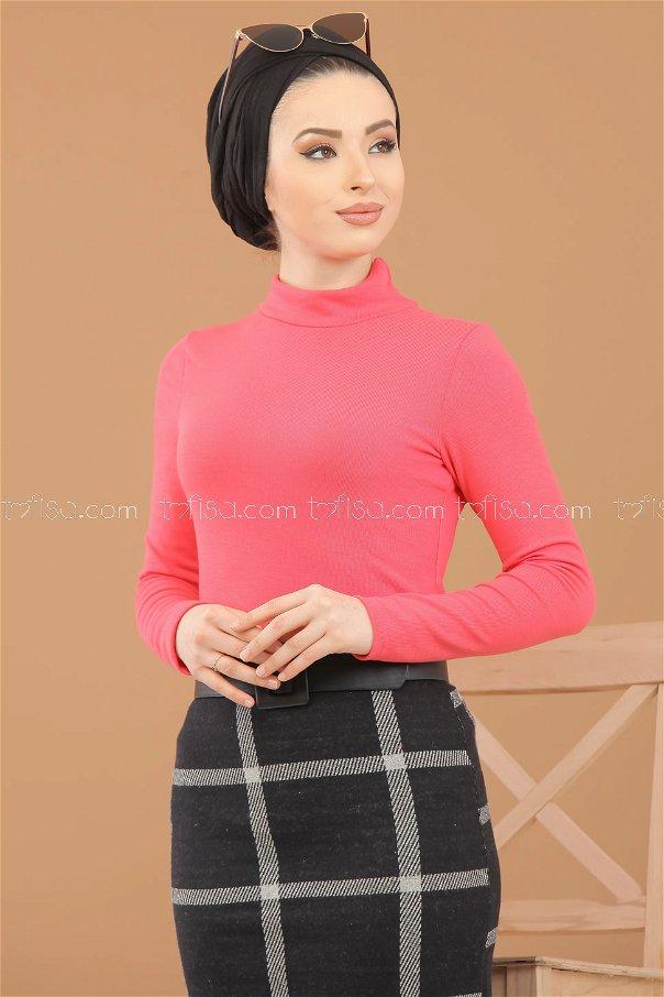 Bluz Etek Kombin Fuşya - 8307