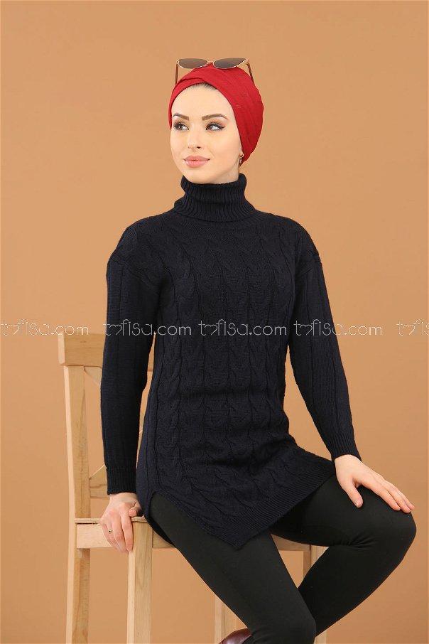 Bogazlı Tunik Siyah - 8318