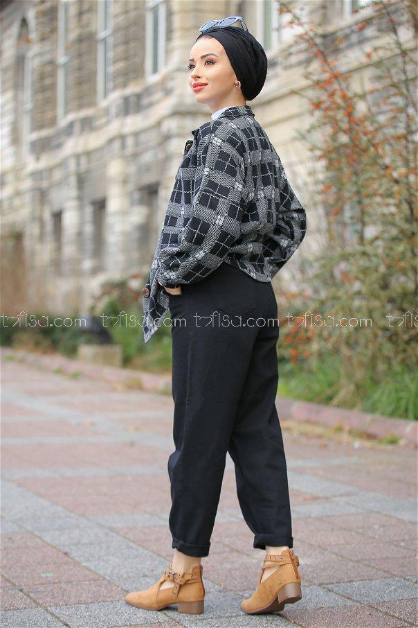 Bol Kot Pantolon Siyah - 8304