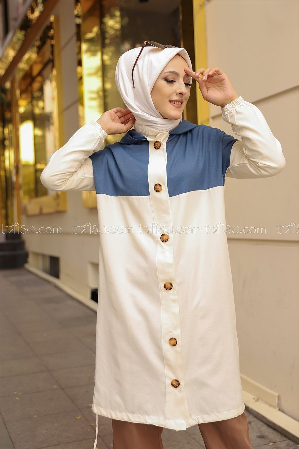 Buttoned Cap Indigo - 3106