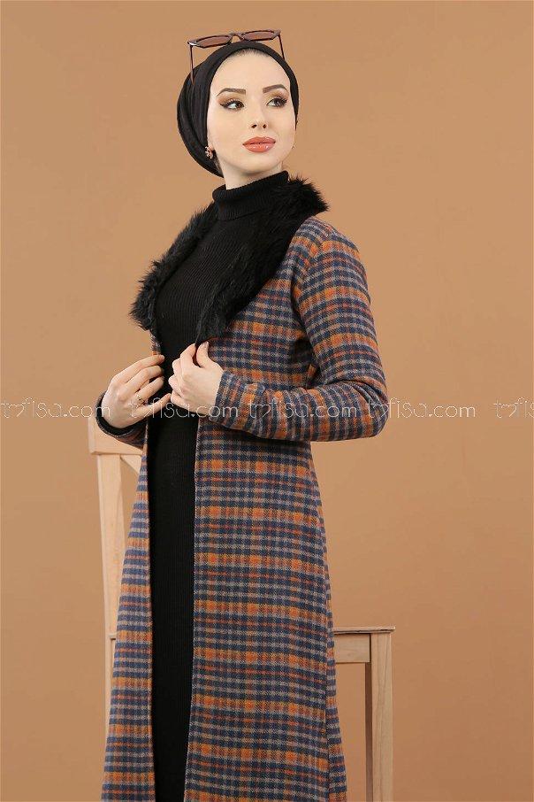 Cap Details Fur indigo - 8263