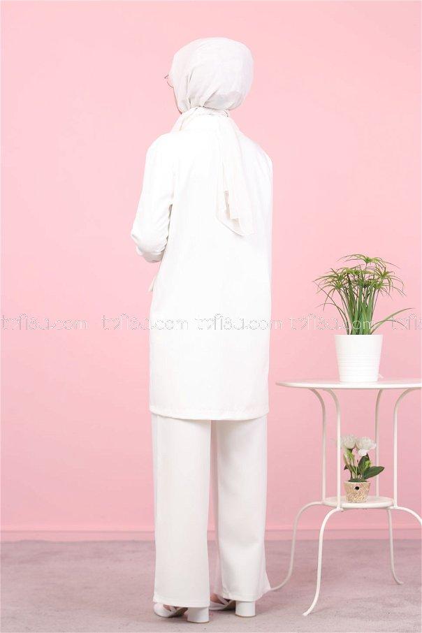 Ceket Pantolon Beyaz - 8398