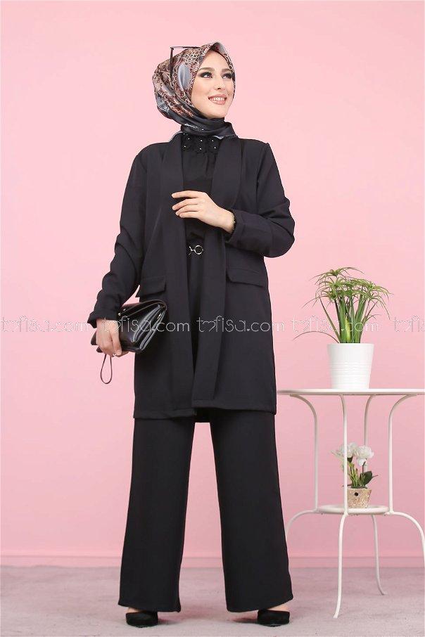 Ceket Pantolon Siyah - 8398