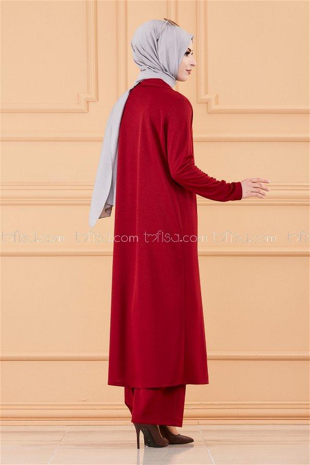 Ceket Tunık Pantolon BORDO - 3661