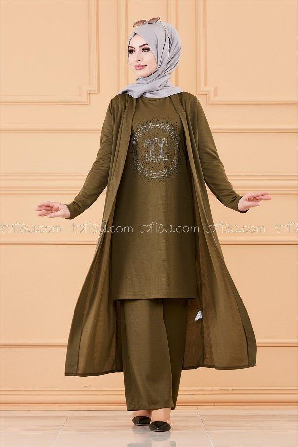 Ceket Tunık Pantolon HAKI - 3661