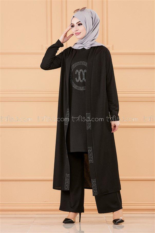 Ceket Tunık Pantolon SIYAH - 3661