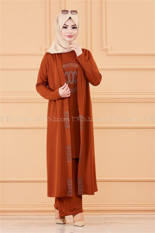 Ceket Tunık Pantolon TABA - 3661
