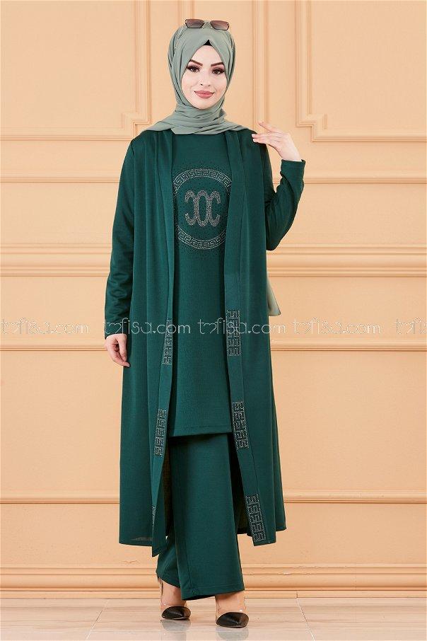 Ceket Tunık Pantolon ZUMRUT - 3661