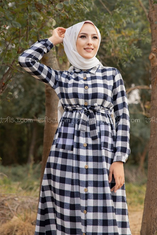 Cepli Elbise Beyaz - 3301