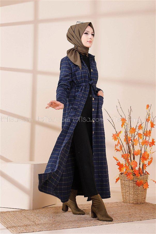 Cepli Elbise Lacivert Haki - 3301