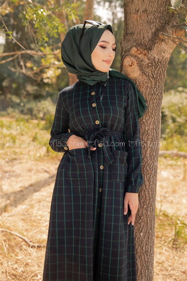 Cepli Elbise Lacivert Zümrüt - 3301