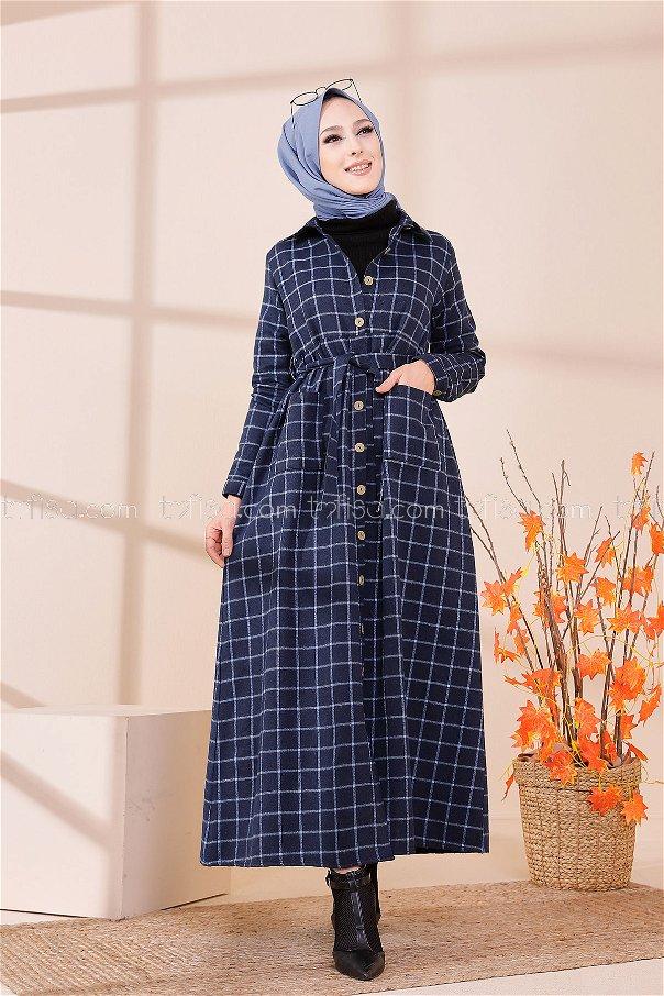 Cepli Elbise Mavi - 3301