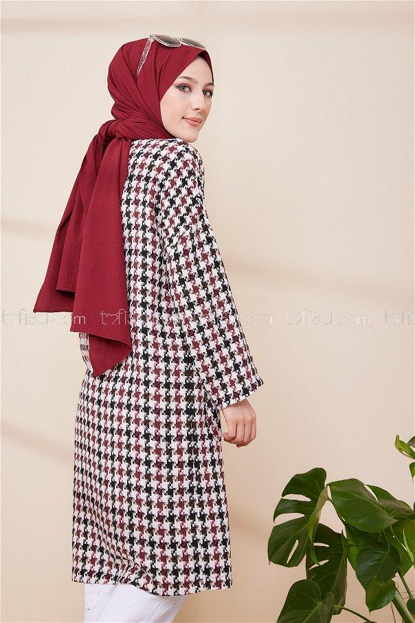Coat Claret Red Ecru - 3387
