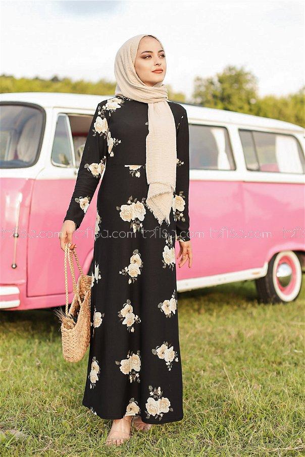 Crepe Dress Black - 8440