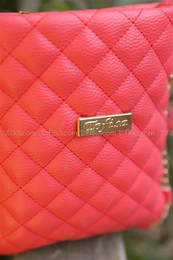 Cross Chain Bag Red - 2005