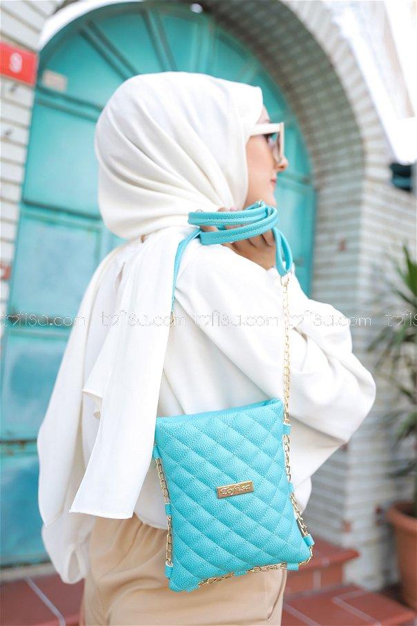 Cross Chain Bag Turquoise - 2005