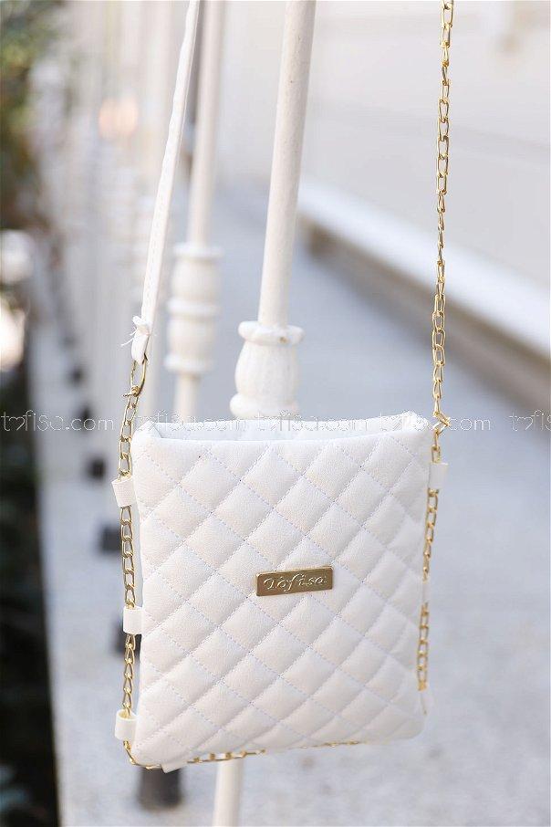 Cross Chain Bag White - 2005