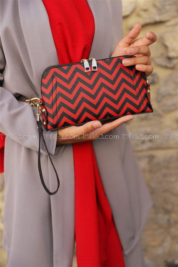 Crossbody Bag Black Red - 2007