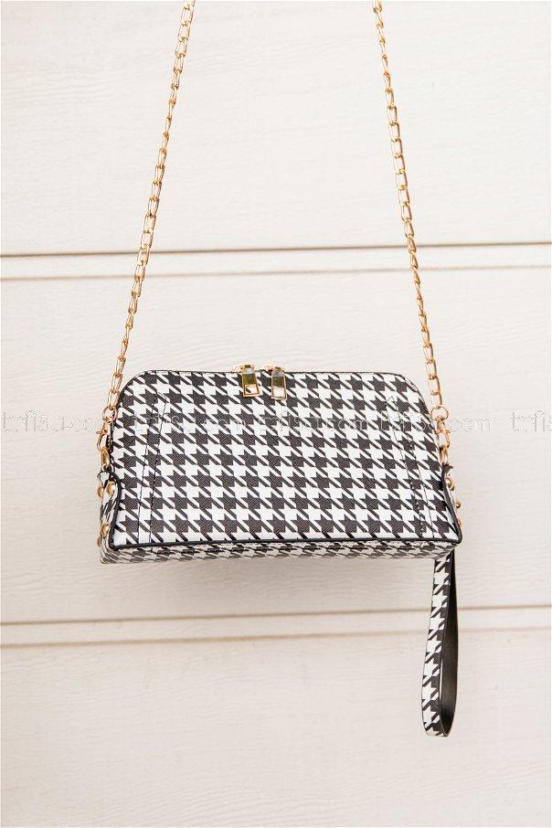 Crossbody Bag Black White - 2008