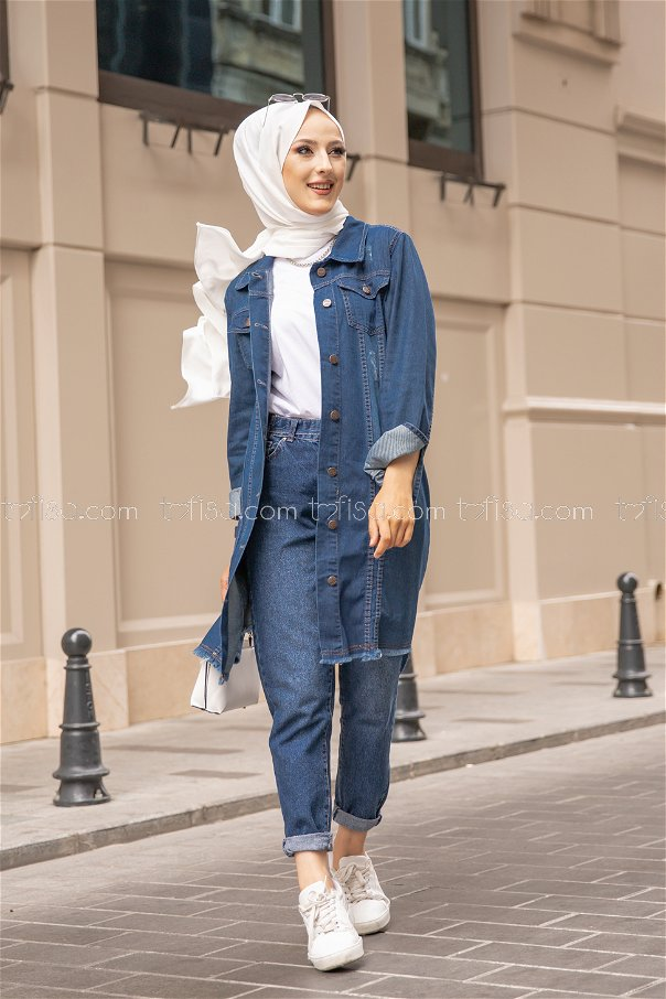Denim Jacket Navy Blue - 8602