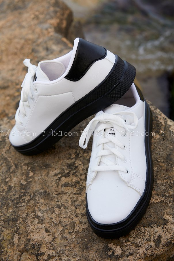 Derı Garnılı Ayakkabı BYZ SIYAH SIYAH - 8699
