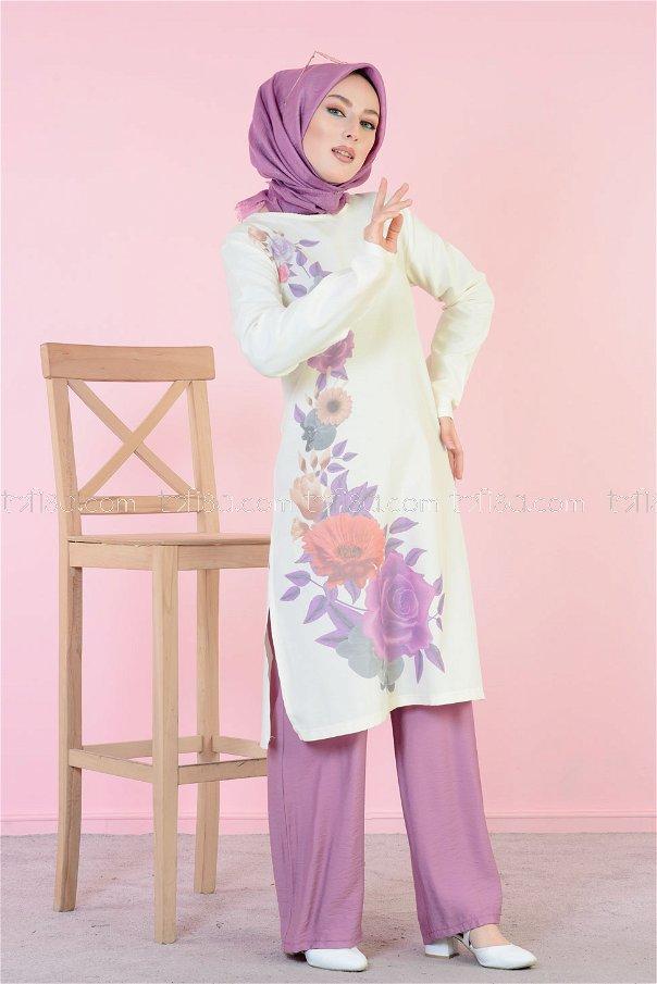Digitally Printed Tunic Purple - 3061