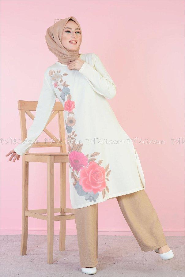 Digitally Printed Tunic Rose - 3061