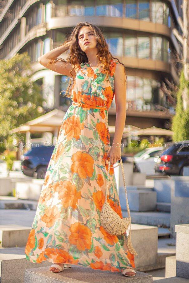 Dress + Belt Orange - 8471
