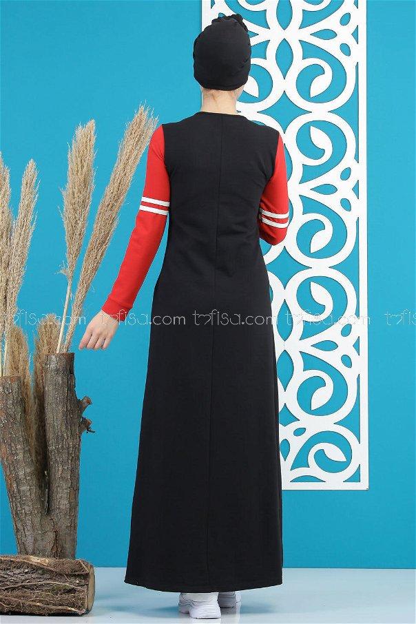 Dress black red - 03 5122