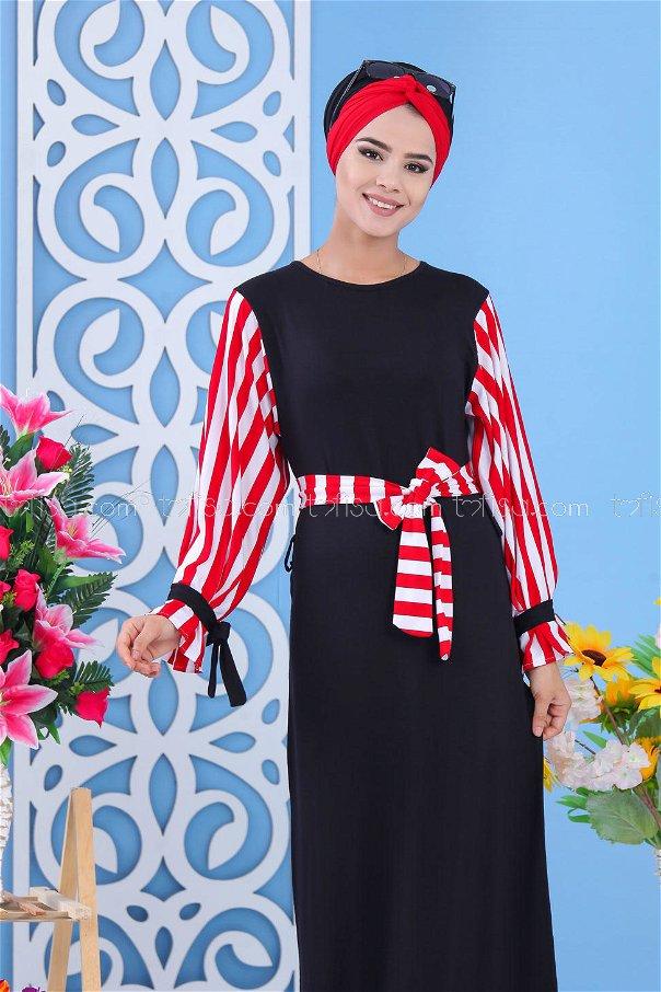 Dress - Black-Red - 03 5140
