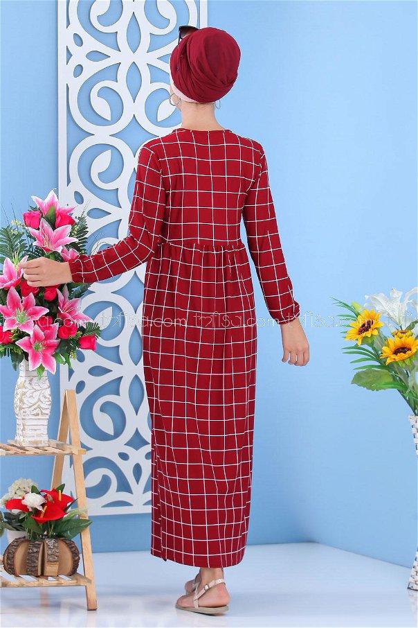 Dress Claret Red - 02 7055