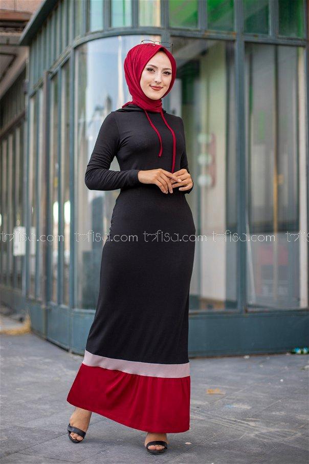 Dress Claret Red - 3075