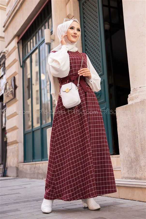 Dress Claret Red - 3229