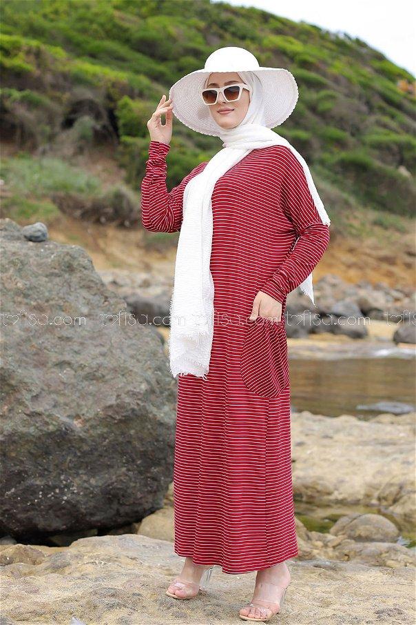 Dress Claret Red - 5268