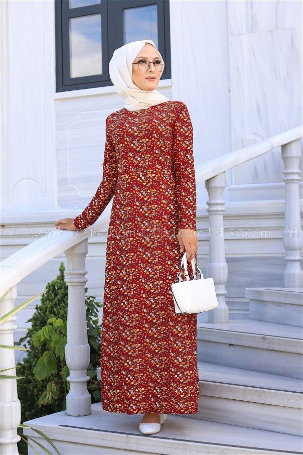 Dress Claret Red - 8516