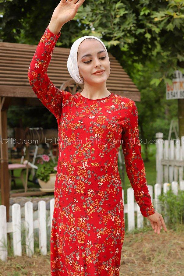 Dress Crepe Claret Red - 8487