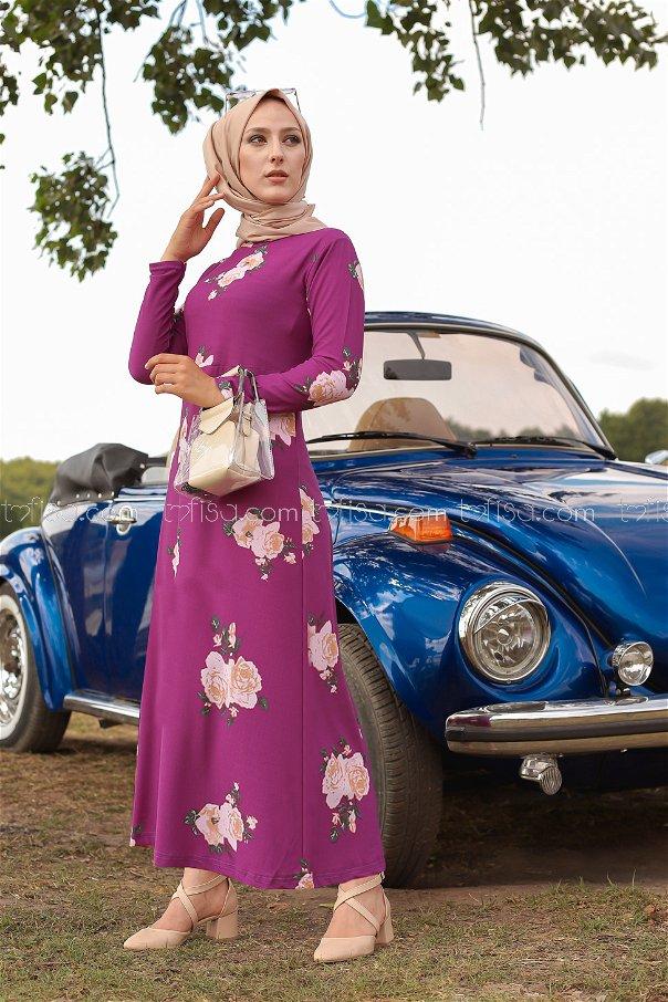 Dress Floral Purple - 8440
