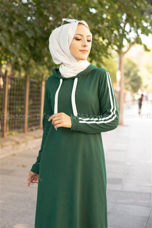 Dress Hooded Dark Emerald - 3227