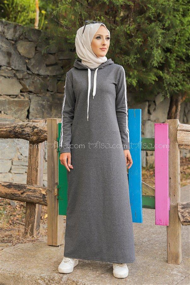 Dress Hooded Dark Grey - 3227