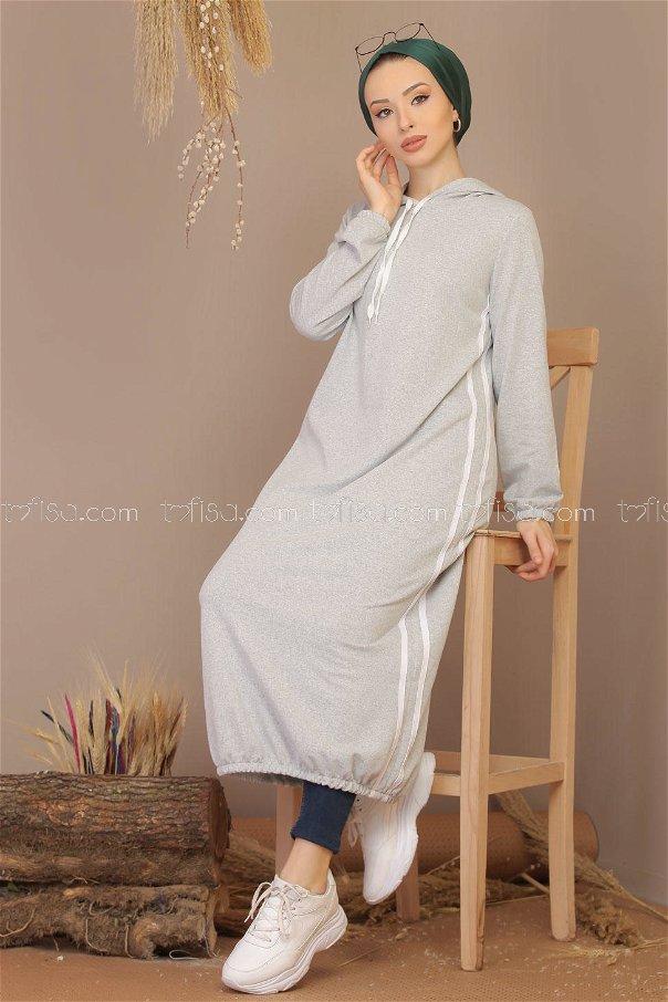 Dress hooded gray - 5184