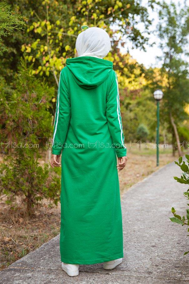 Dress Hooded Green - 3227