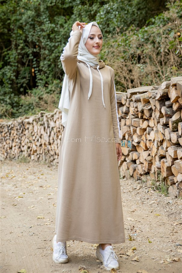 Dress Hooded Light Beige - 3227