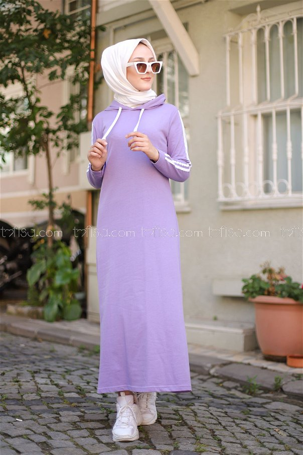 Dress Hooded Lilac- 3227