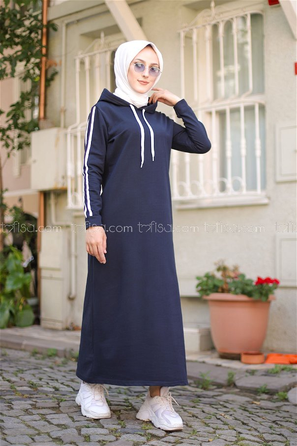 Dress Hooded Navy Blue - 3227