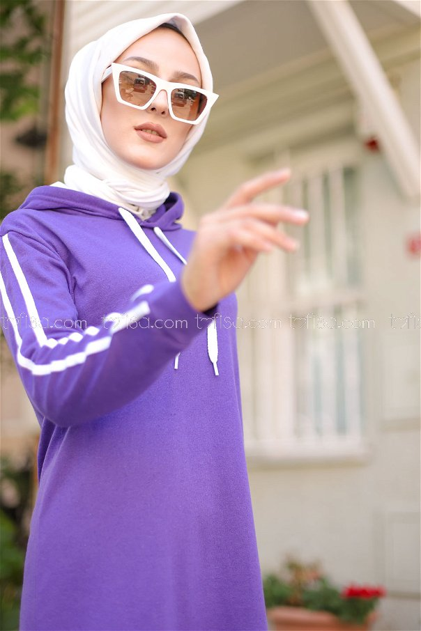 Dress Hooded Purple - 3227