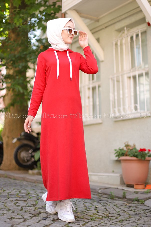 Dress Hooded Red - 3227