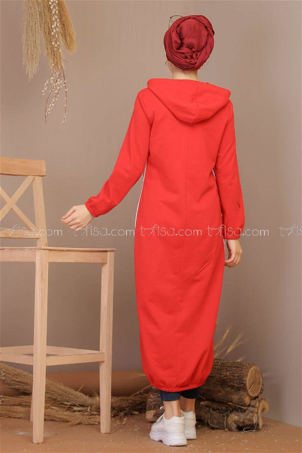 Dress hooded red - 5184